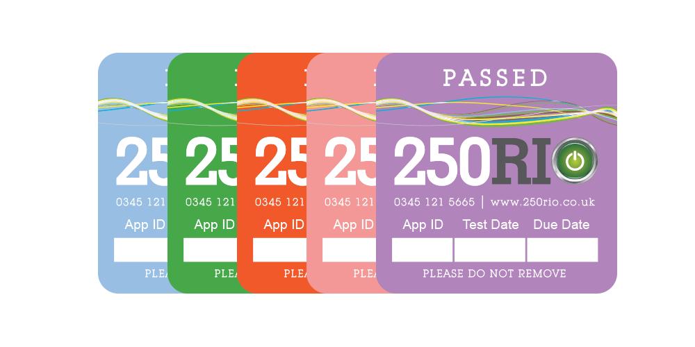 unique pat testing labels
